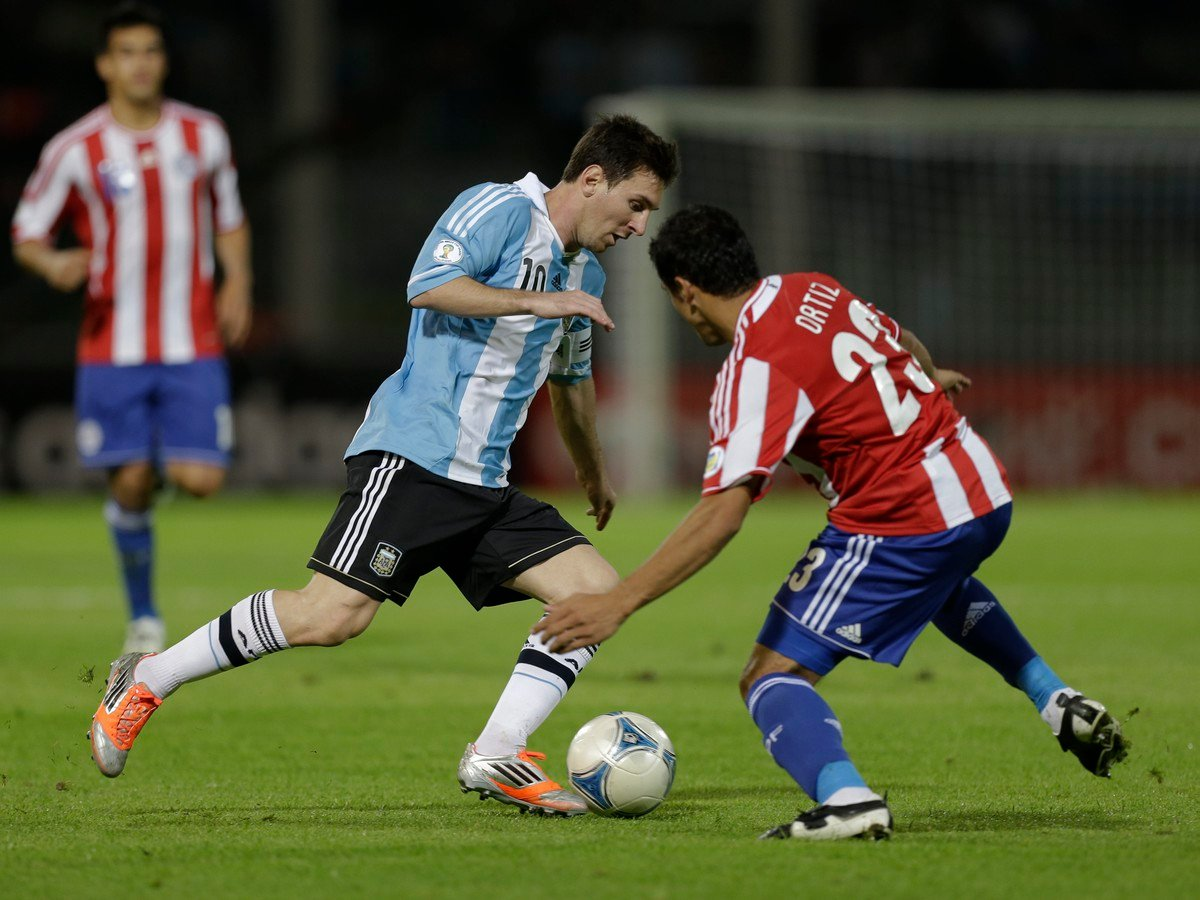 Lionel Messi a Richard Ortiz