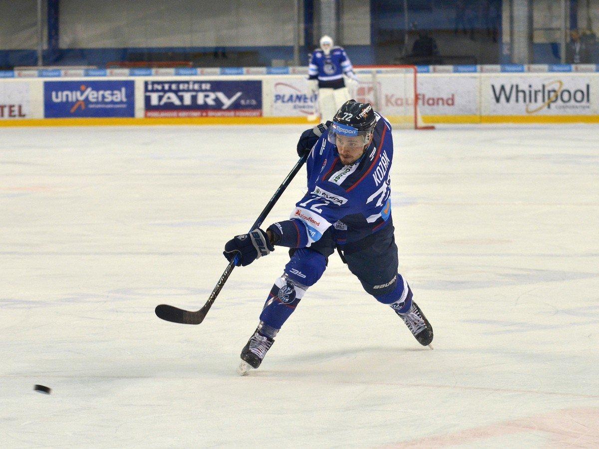 Hockey League 16 rounds Hong Kong Poprad to Lucas Kozak HK Poprad-HC Košice