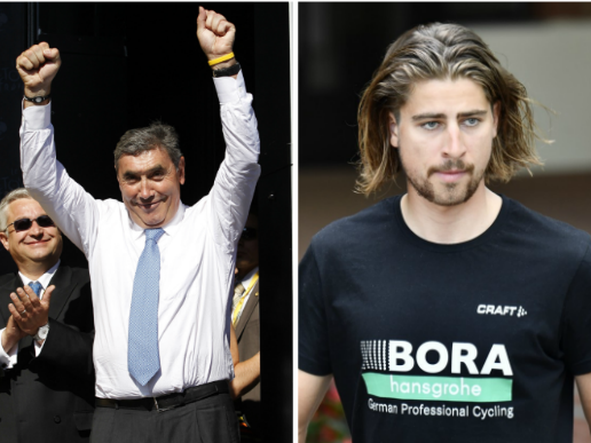 Eddy Merckx a Peter Sagan