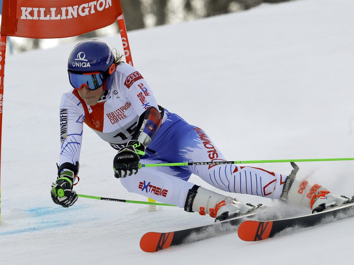 Slovenka Petra Vlhová during the 1st round of the Great Slalom of the World Cup Alpine Skiing in the USA Killarney