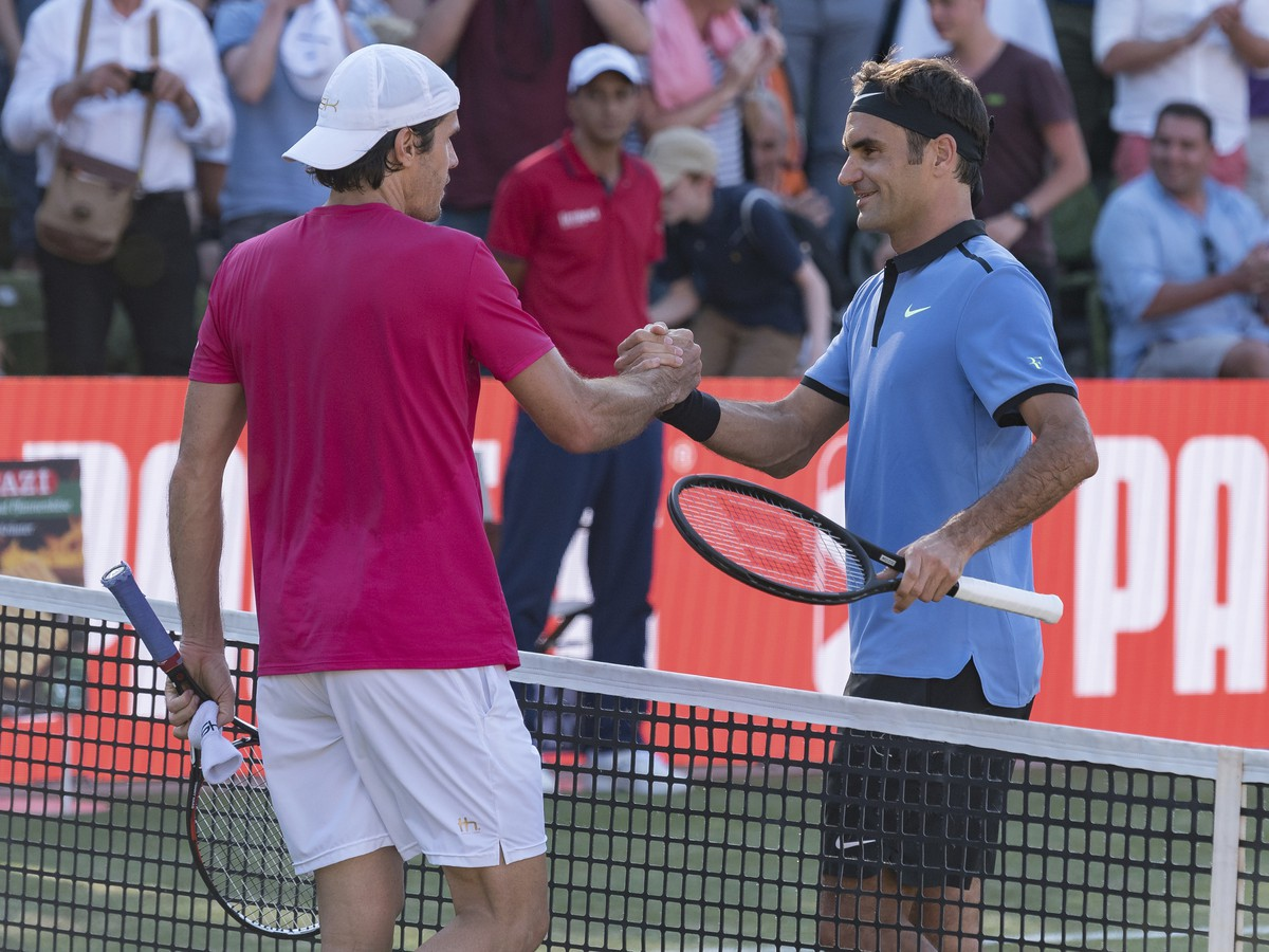 Tommy Haas a Roger Federer