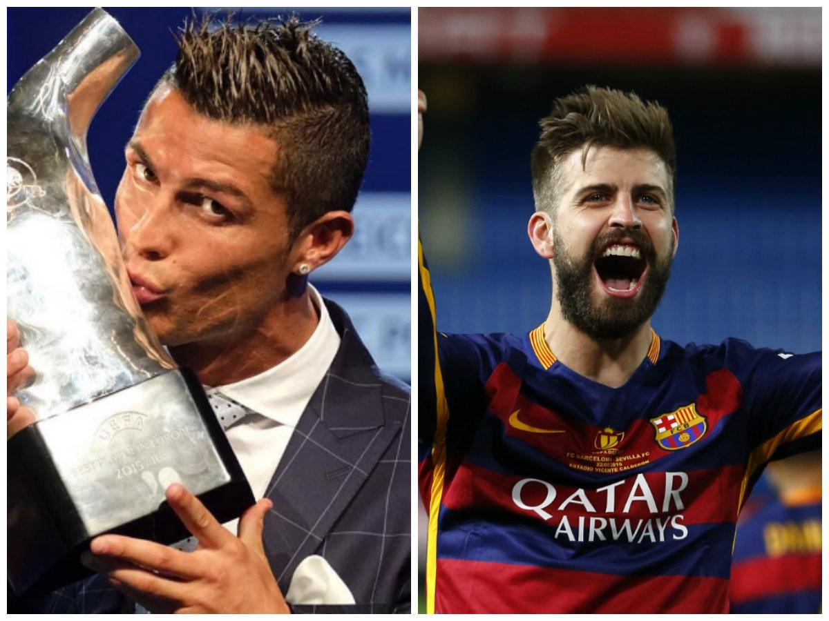Piqué vyprovokoval slovnú prestrelku: FOTO Ronaldov odkaz ho totálne zahanbil!