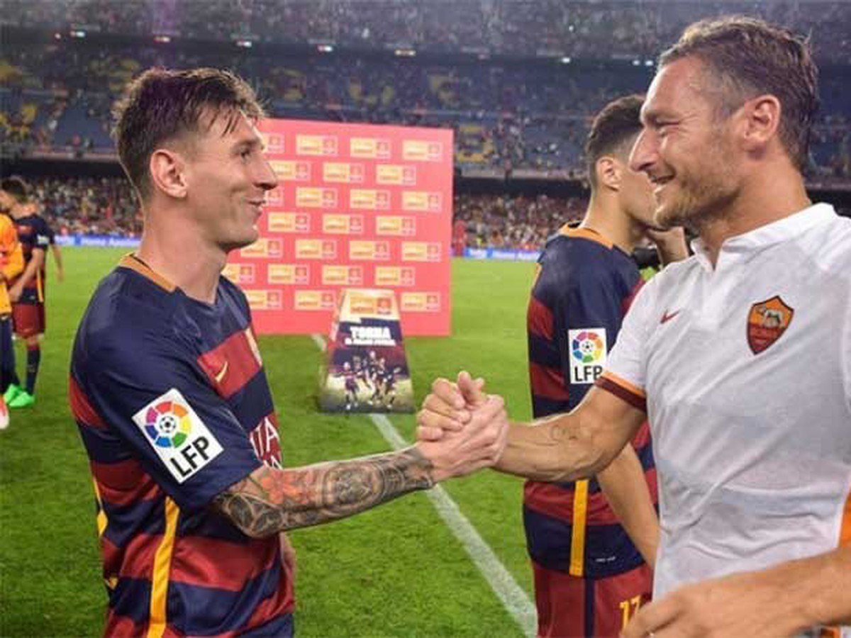VIDEO Messi tiež obdivuje rímskeho cisára: Takto zablahoželal Tottimu k veľkému jubileu!