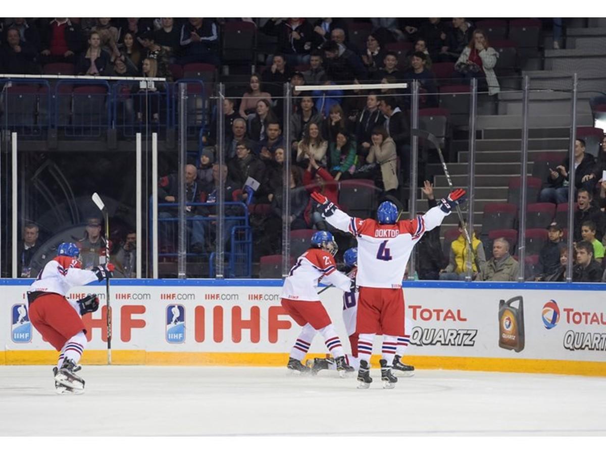 fddb09f6010ac VIDEO Českí mladíci sa postarali o obrovské prekvapenie: Na šampionáte vyradili  Kanadu! | Športky.sk