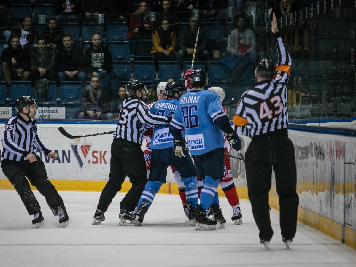 4a3a1097c2 Slovanu bojovný výkon na konferenčného lídra nestačil  Belasí prehrali aj  šiesty zápas v rade