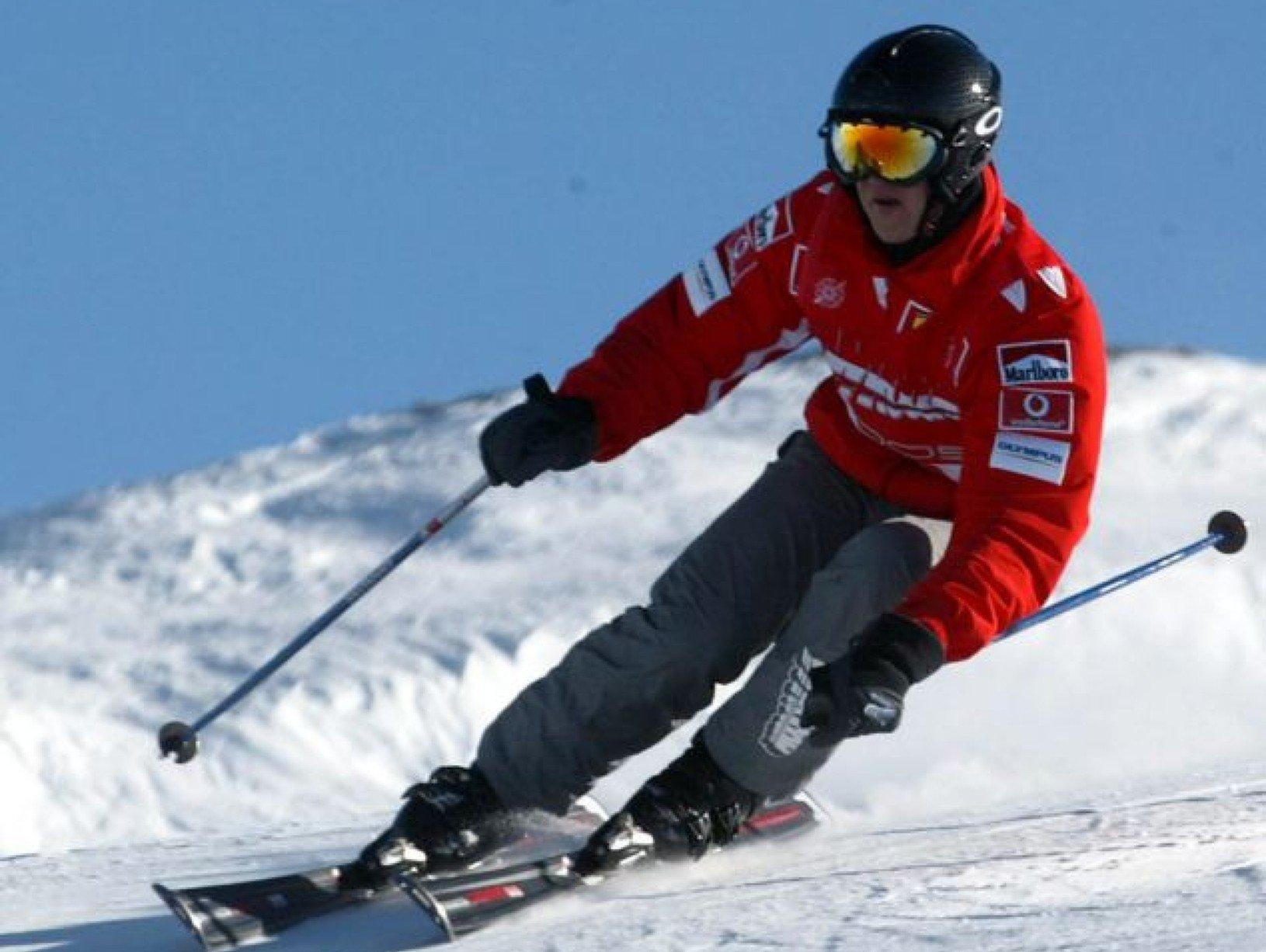 Michael Schumacher počas lyžovaćky
