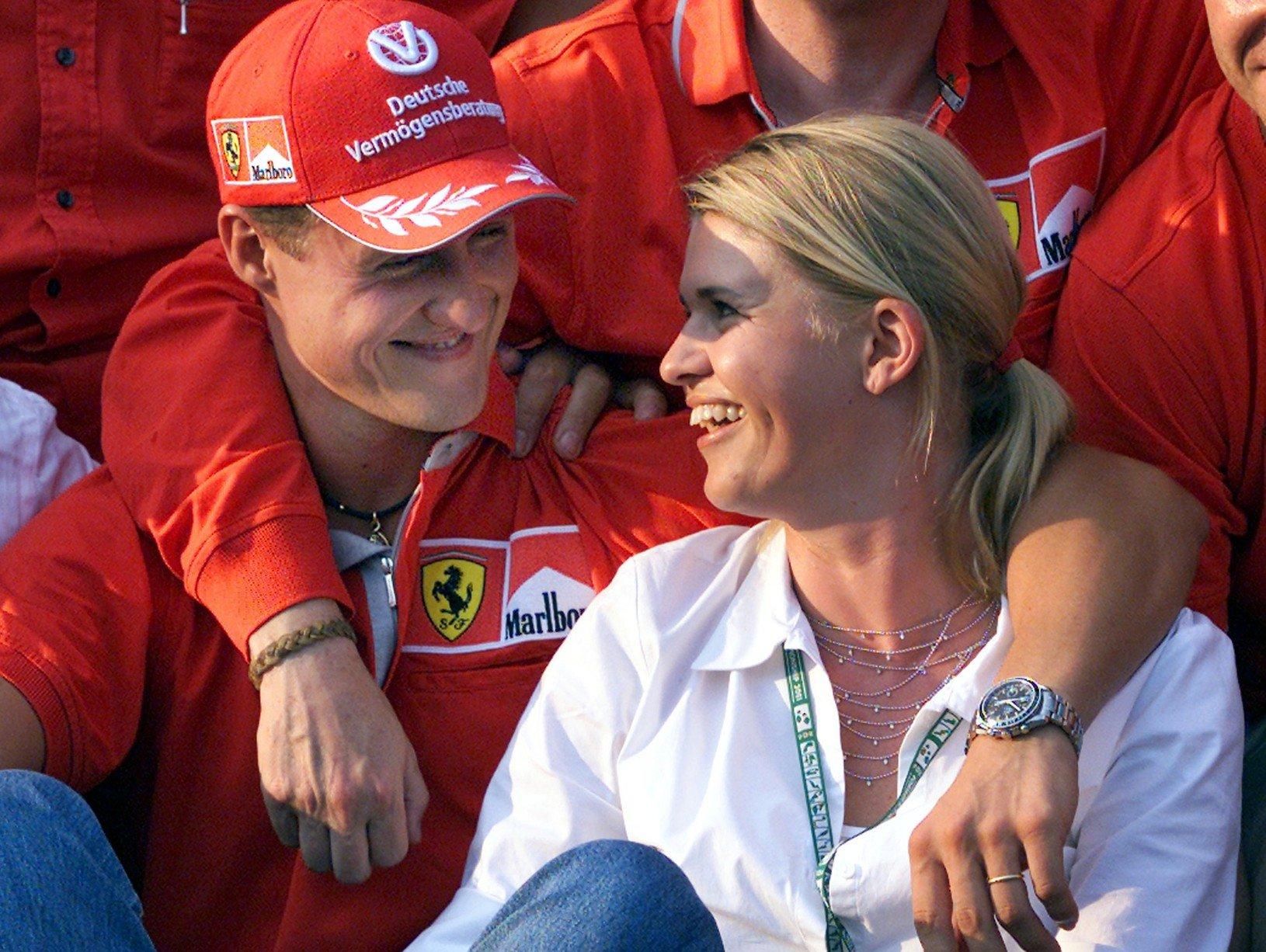 Michael Schumacher s manželkou