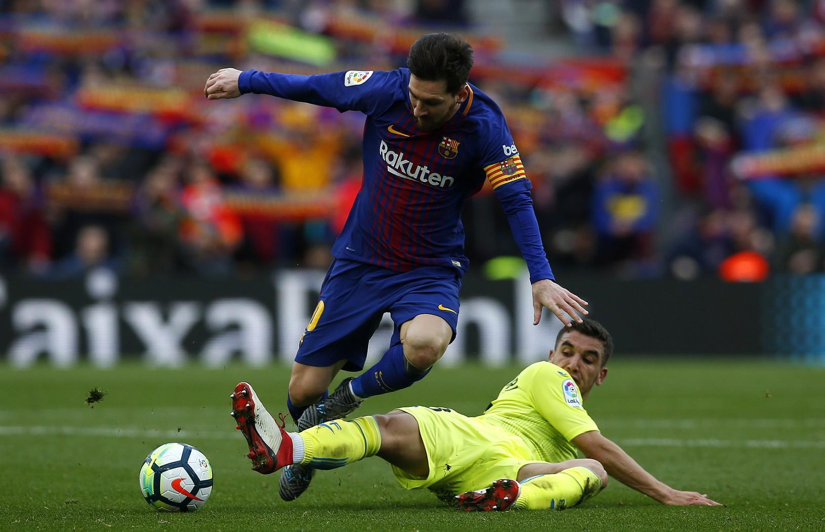 Lionel Messi a Mathieu
