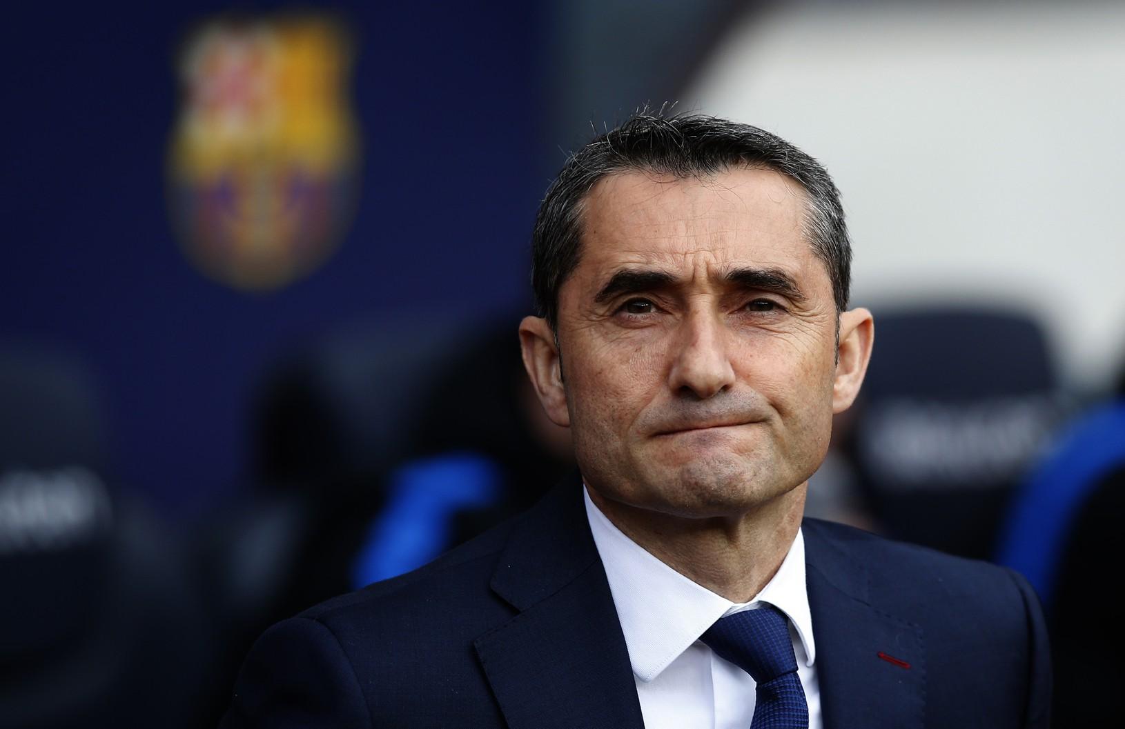 Barcelonský kouč Ernesto Valverde