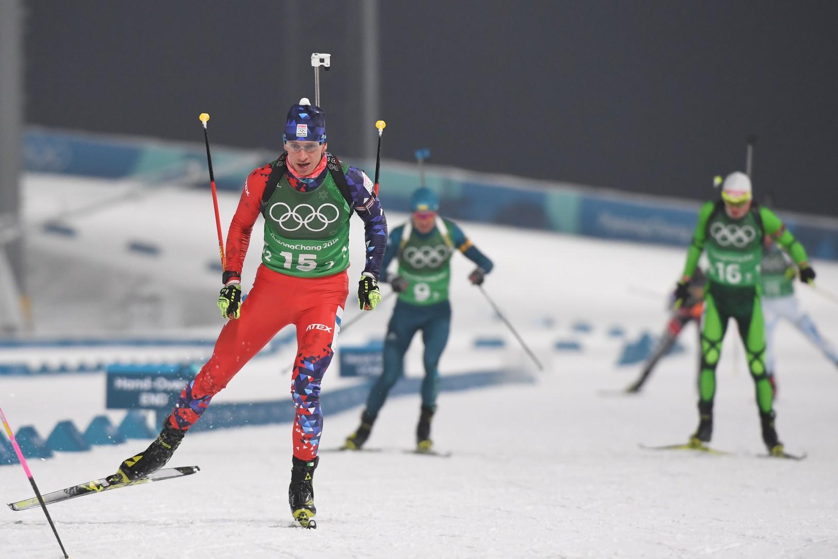 Na snímke slovenský biatlonista