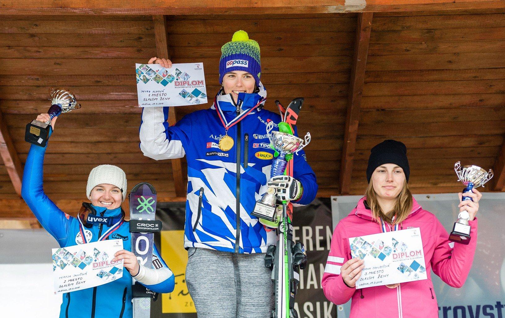 Víťazky v kategórii slalom
