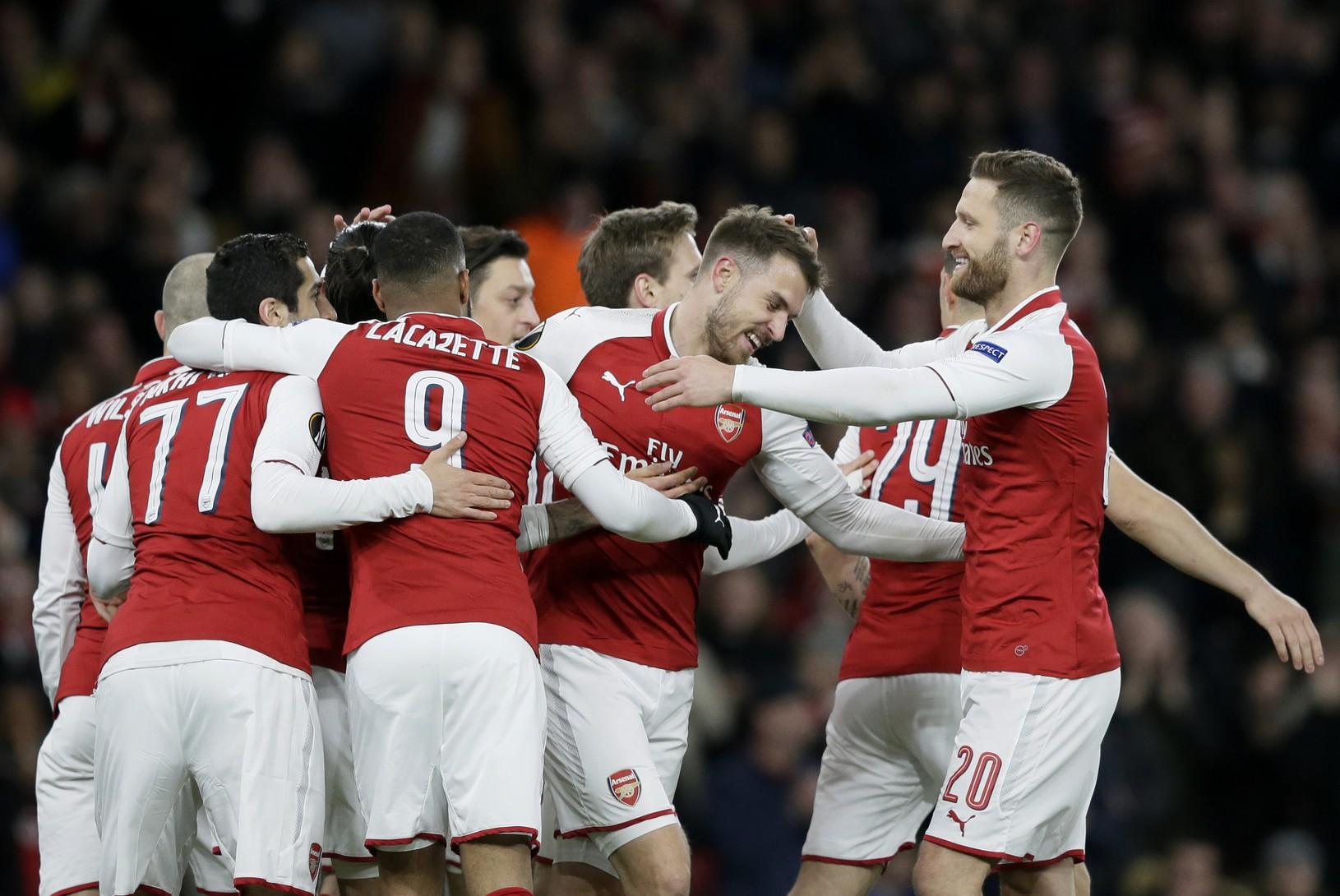 Hráči Arsenalu radujú z
