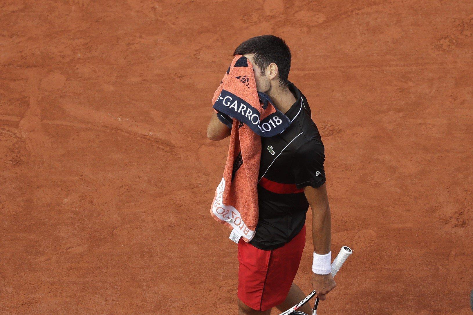 Frustrovaný Novak Djokovič