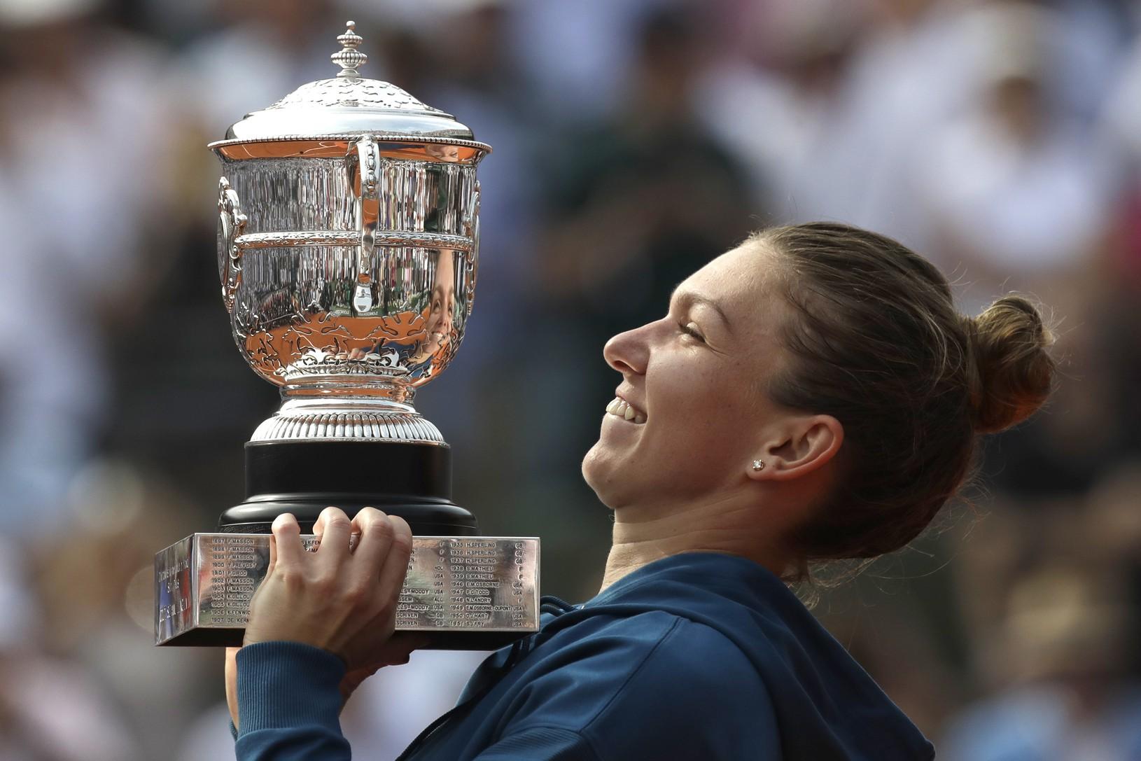 Simona Halepová s víťazným