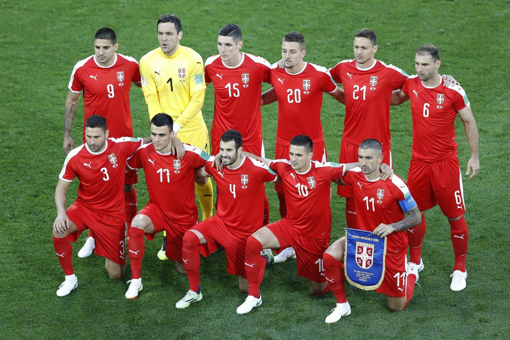 Srbská družina pred zápasom