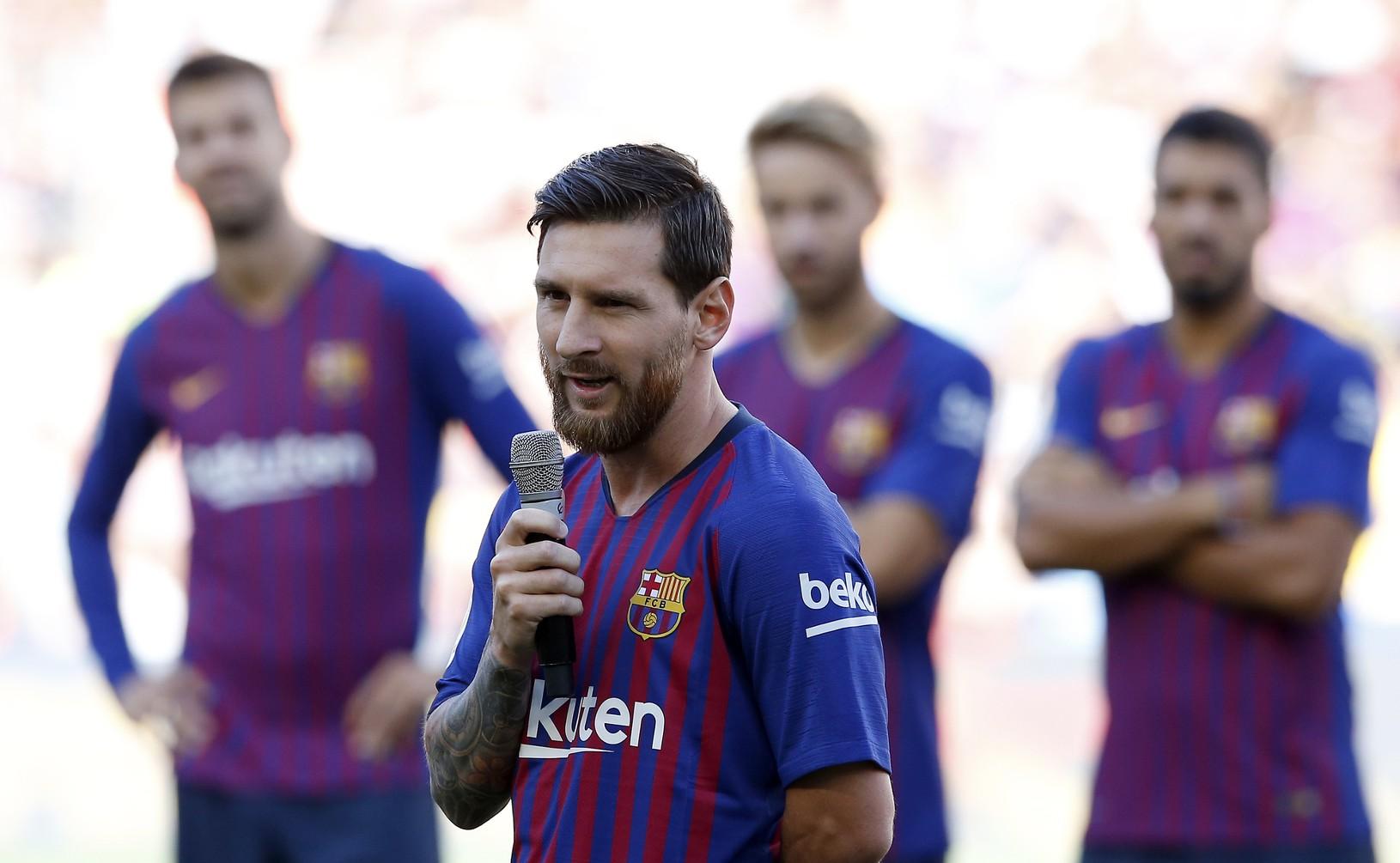 Lionel Messi v predzápasovom