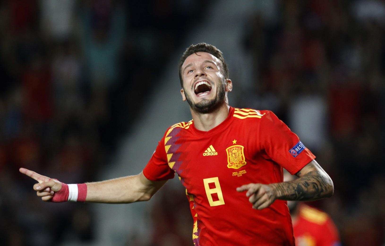 Radosť hráča Španielska Saúla