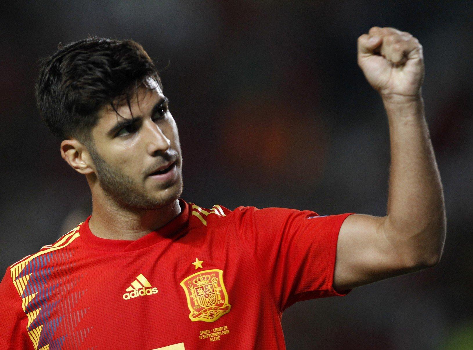 Radosť hráča Španielska Marca