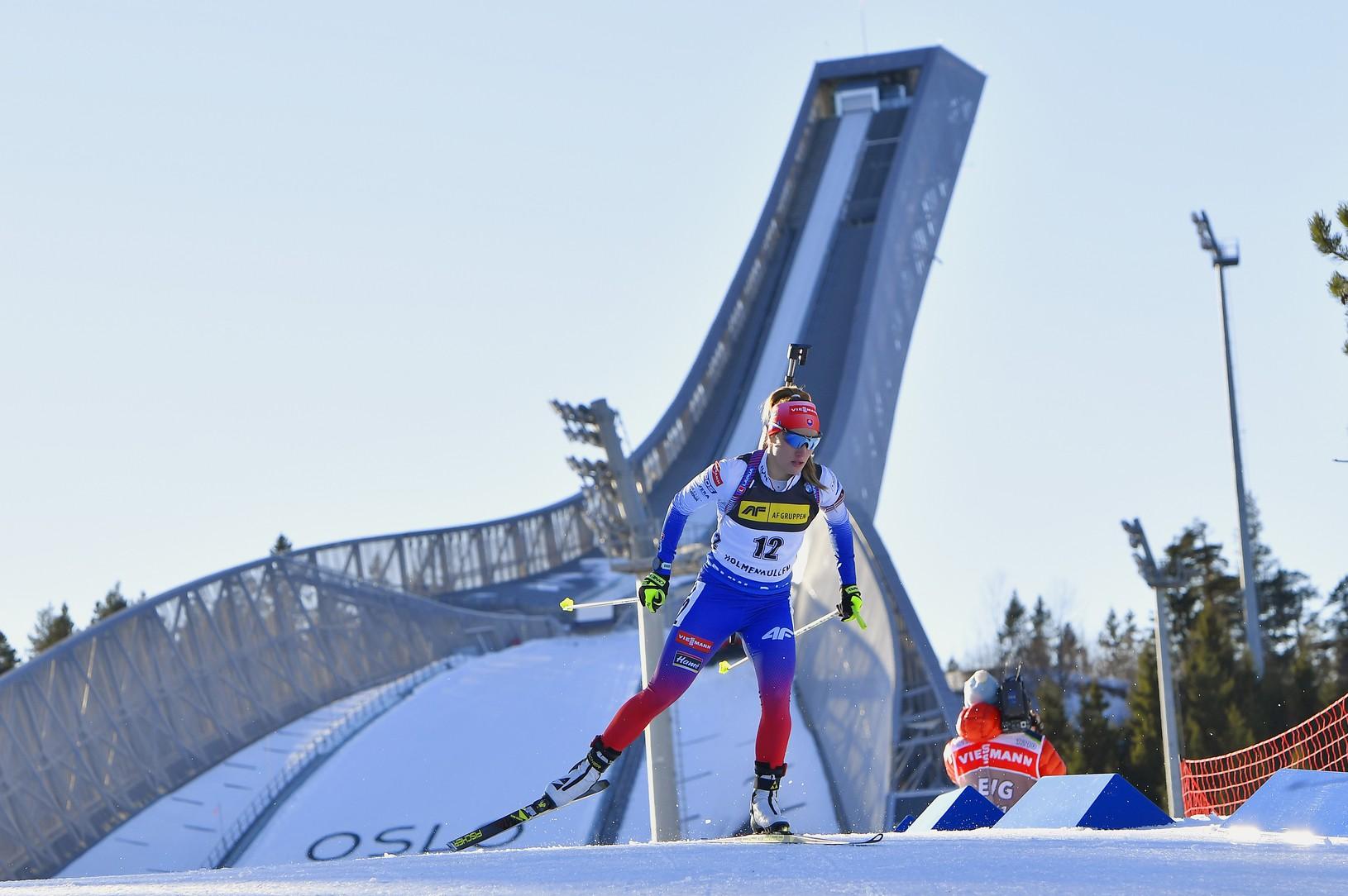 Na snímke slovenská biatlonistka