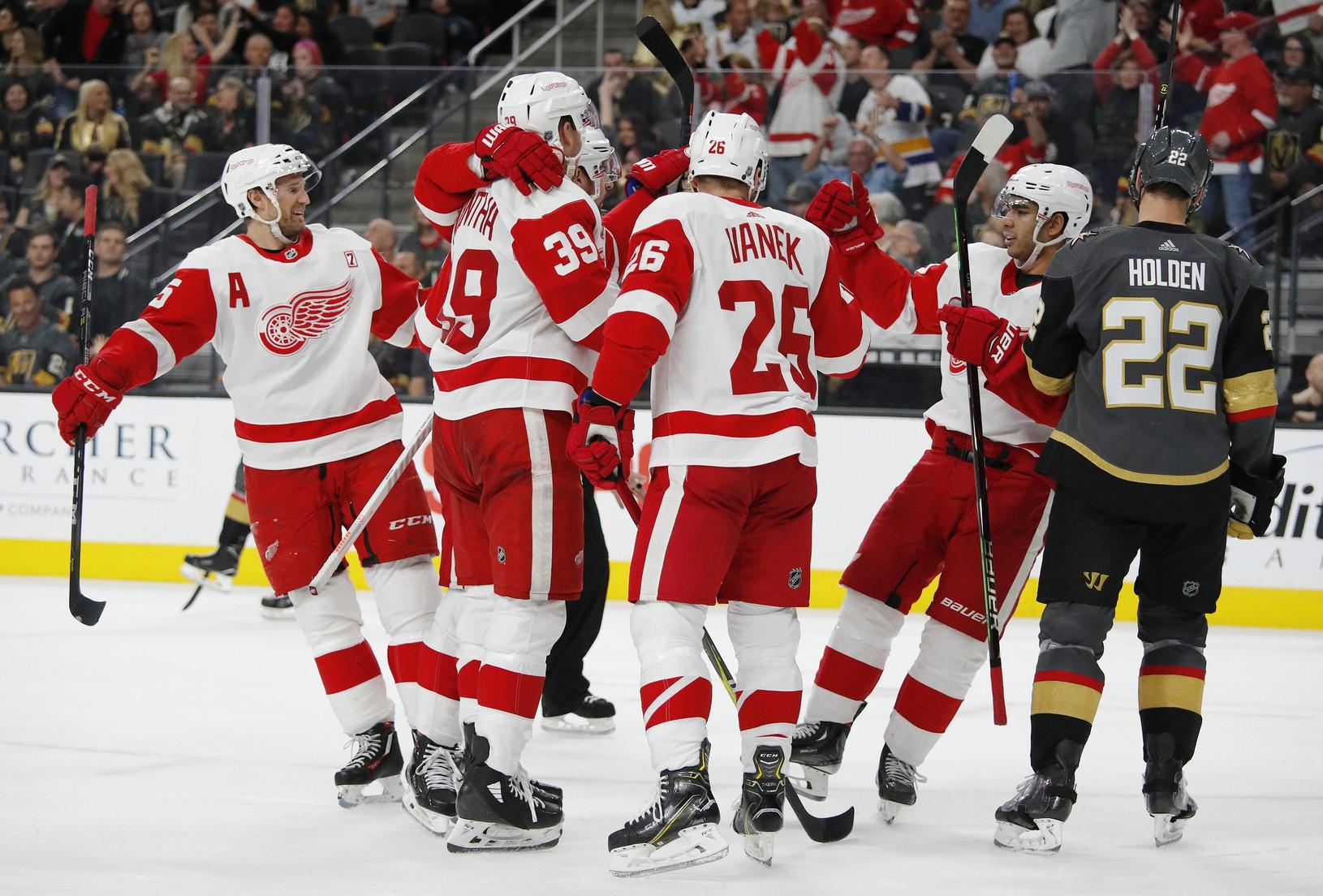 Hráči Detroitu Red Wings