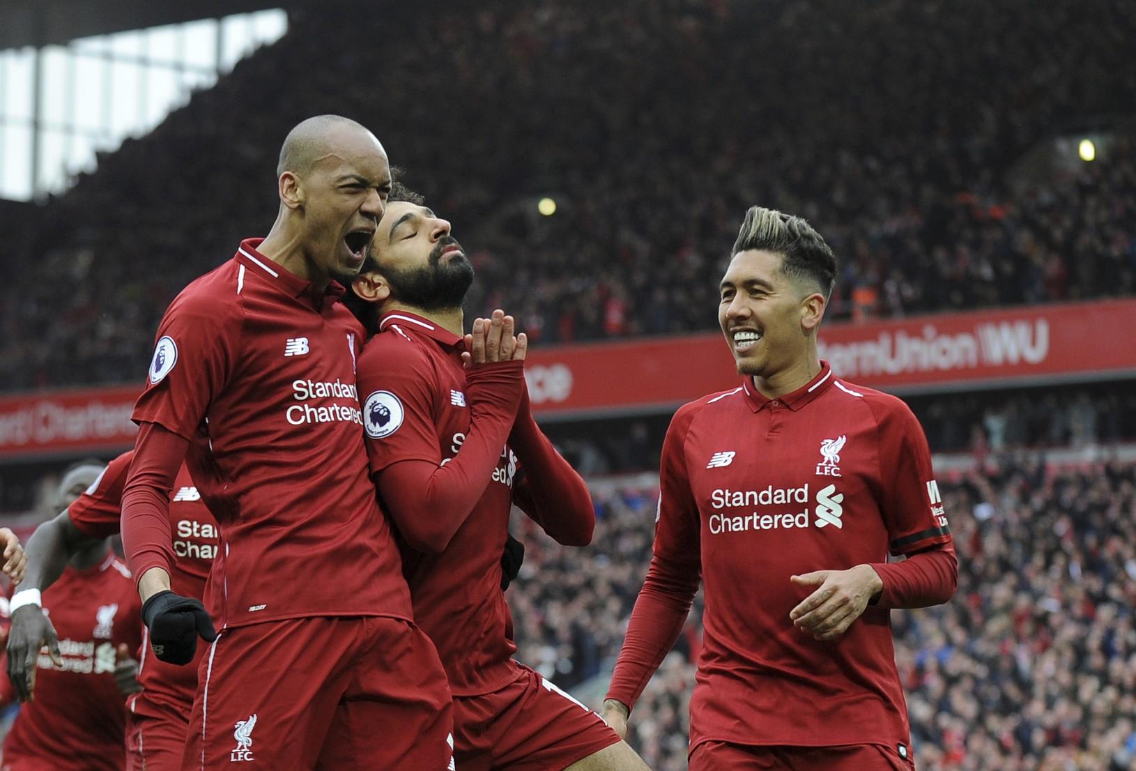 Radosť hráčov Liverpoolu