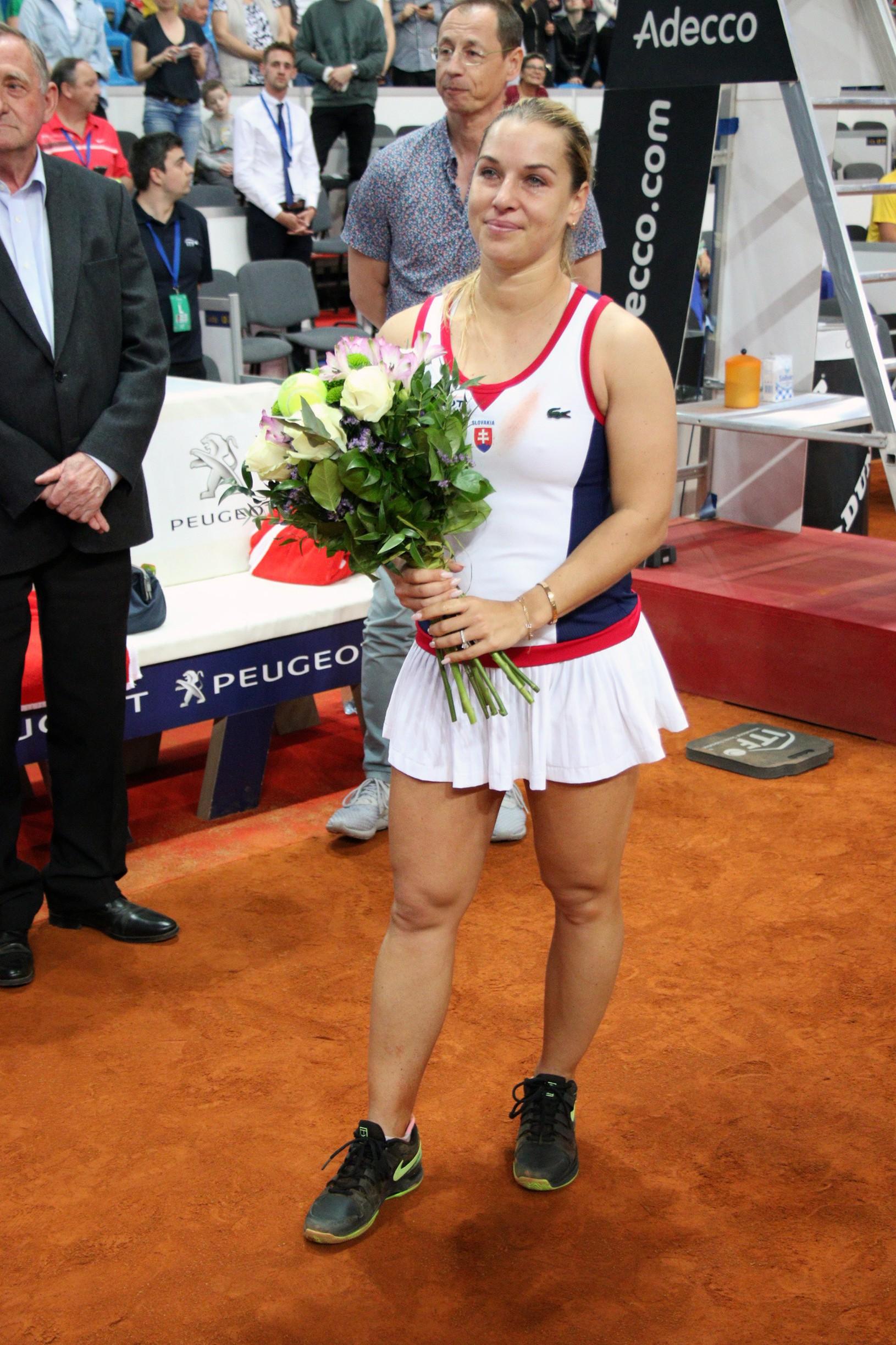 Dominika Cibulková po víťaznej