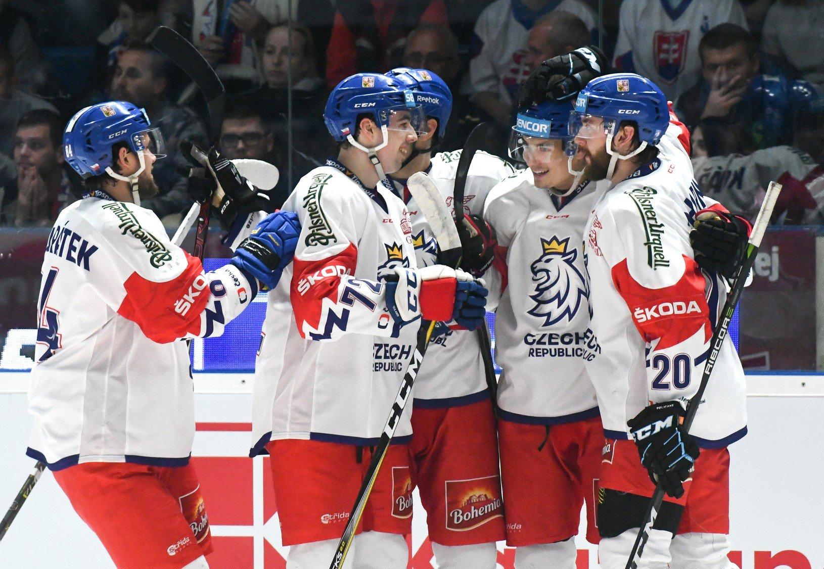 Radosť hráčov Českej republiky