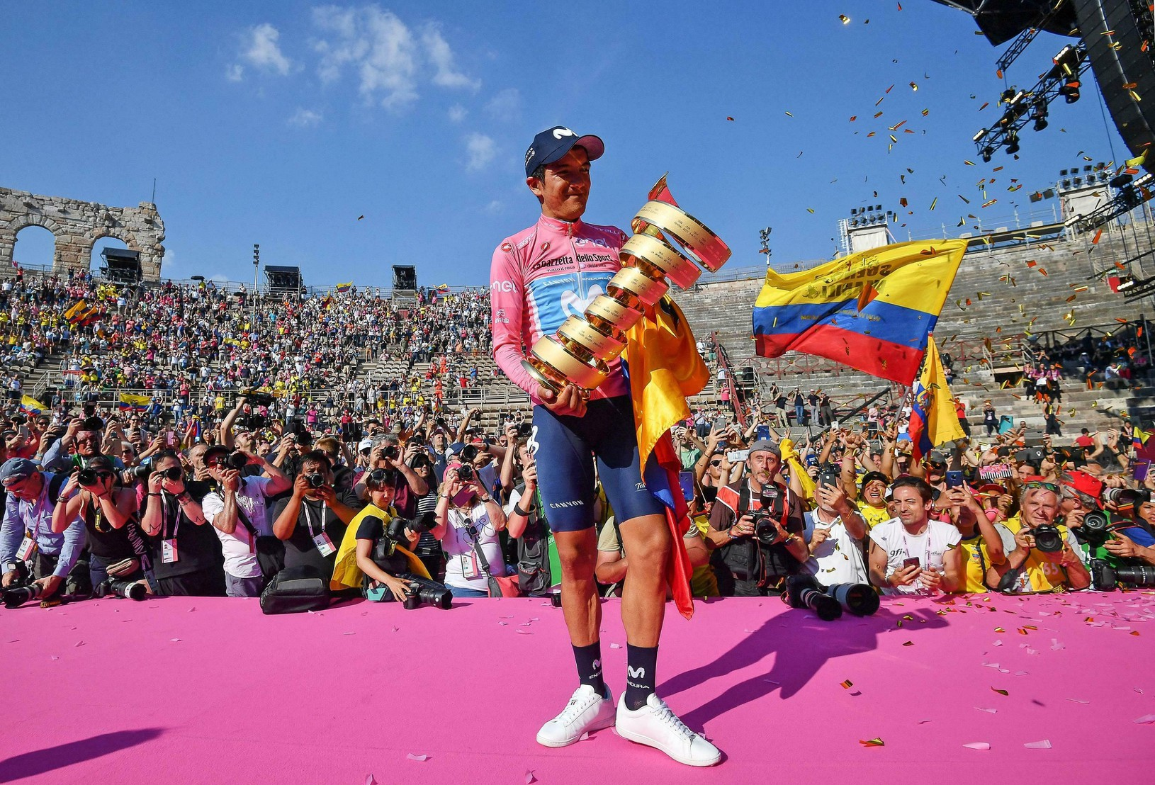 Ekvádorský cyklista Richard Carapaz