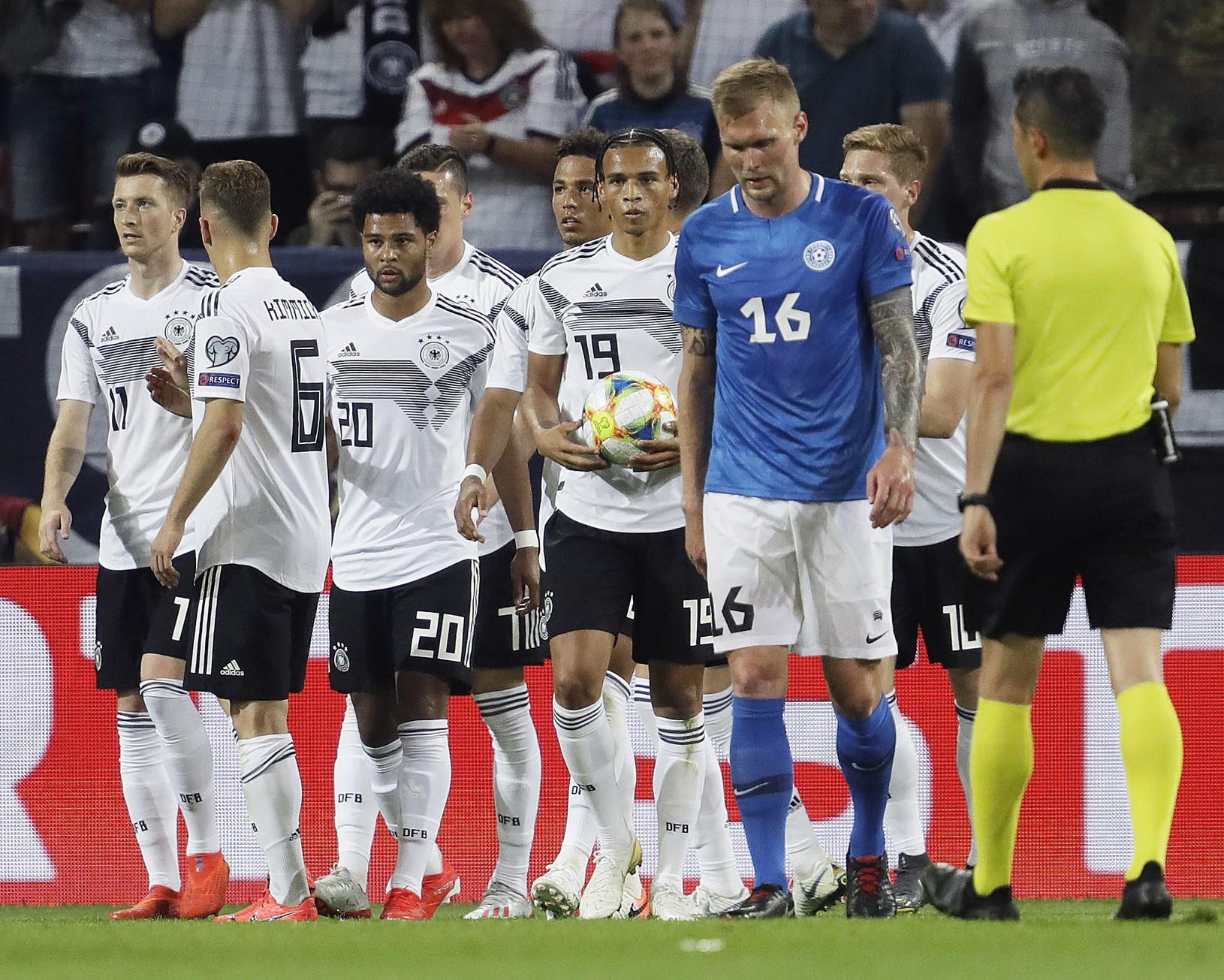 Gólové oslavy futbalistov Nemecka
