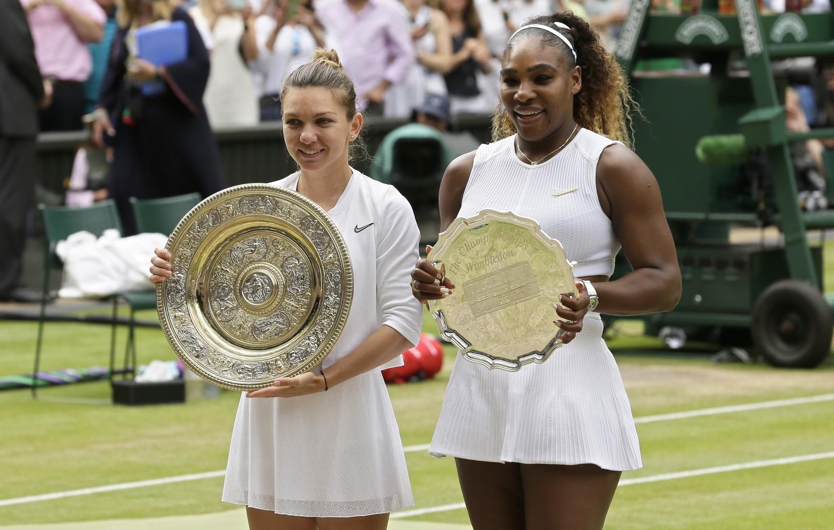 Simona Halepová a Serena