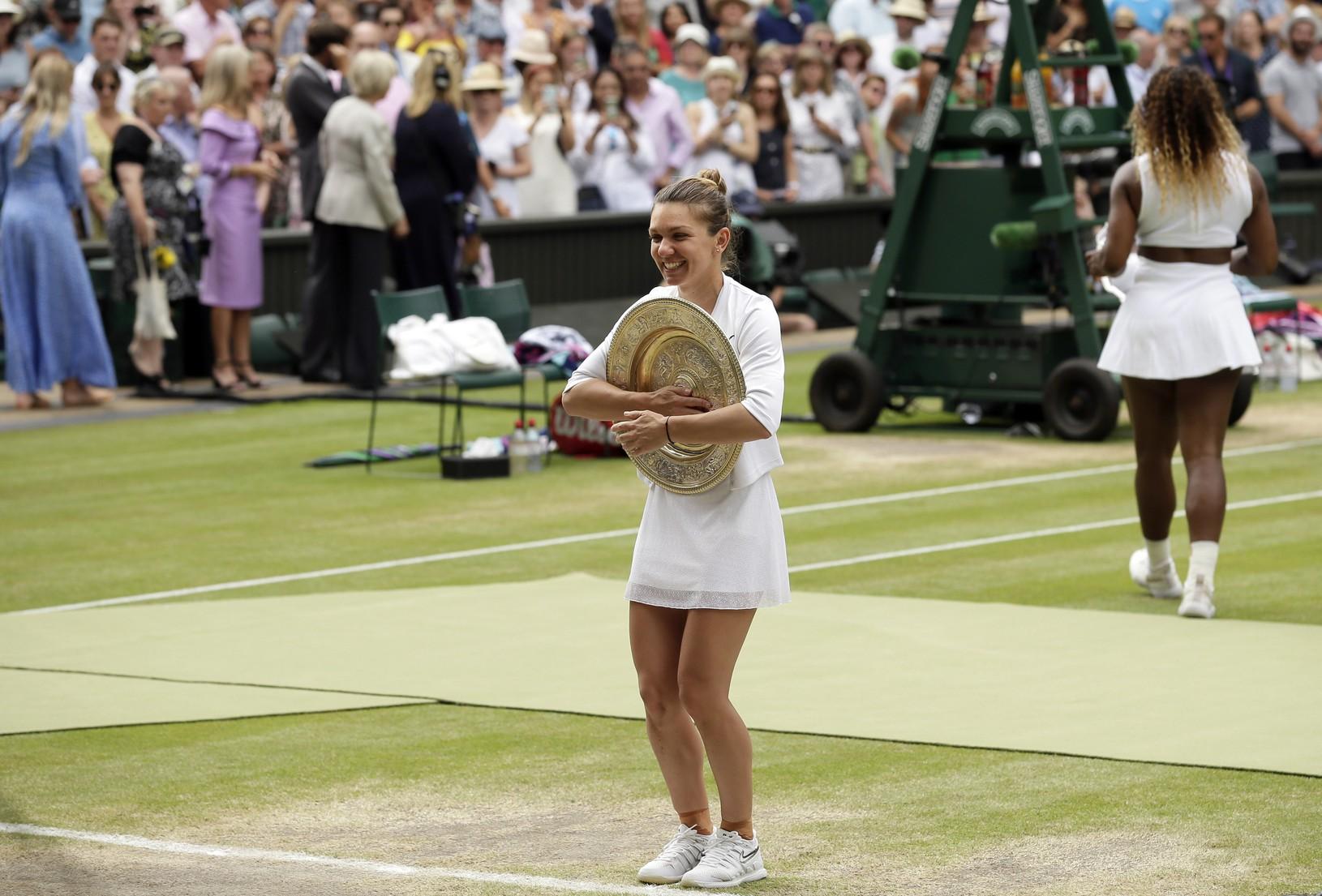 Simona Halepová s víťaznou