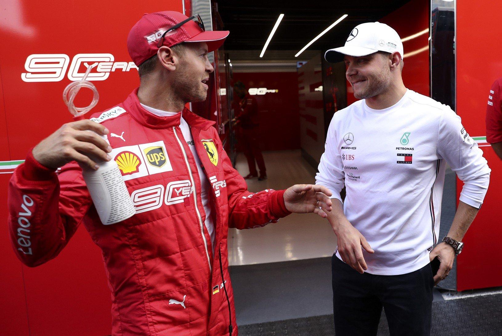 Sebastian Vettel a Valtteri