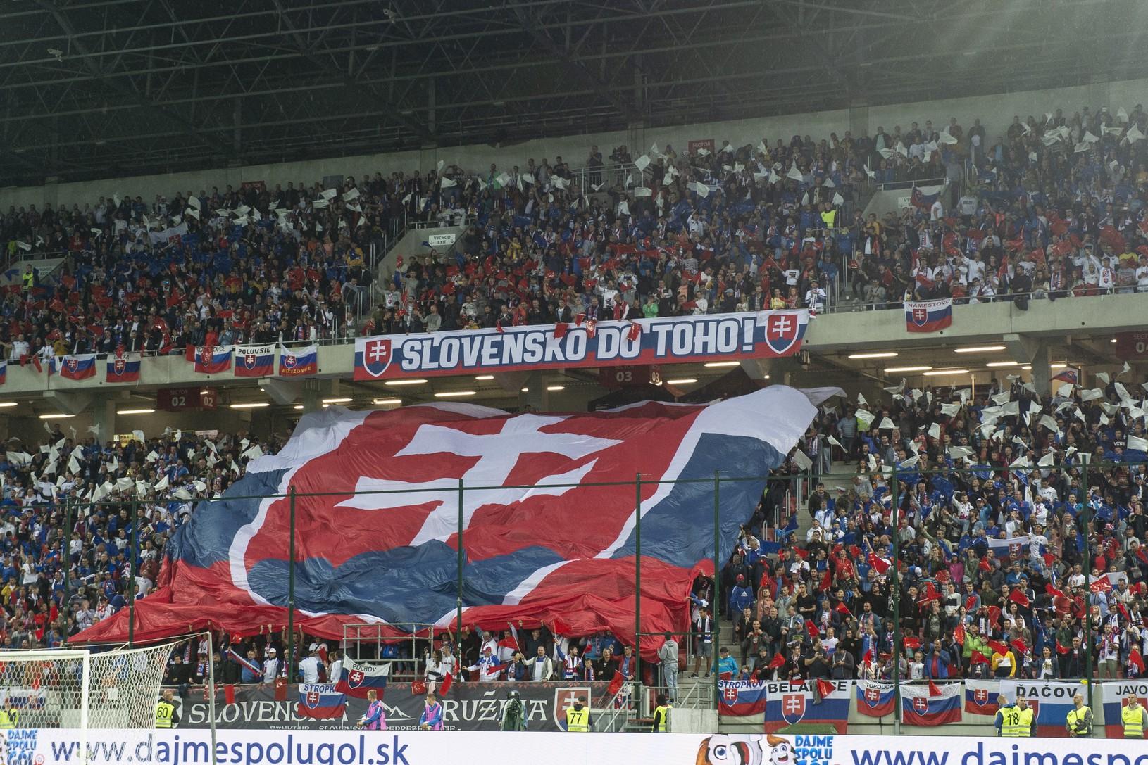 Fanúšikovia Slovenska počas kvalifikačného