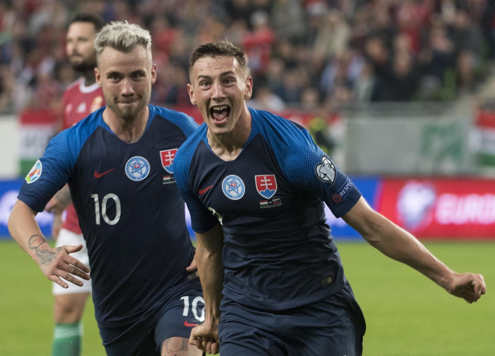 Na snímke gólová radosť