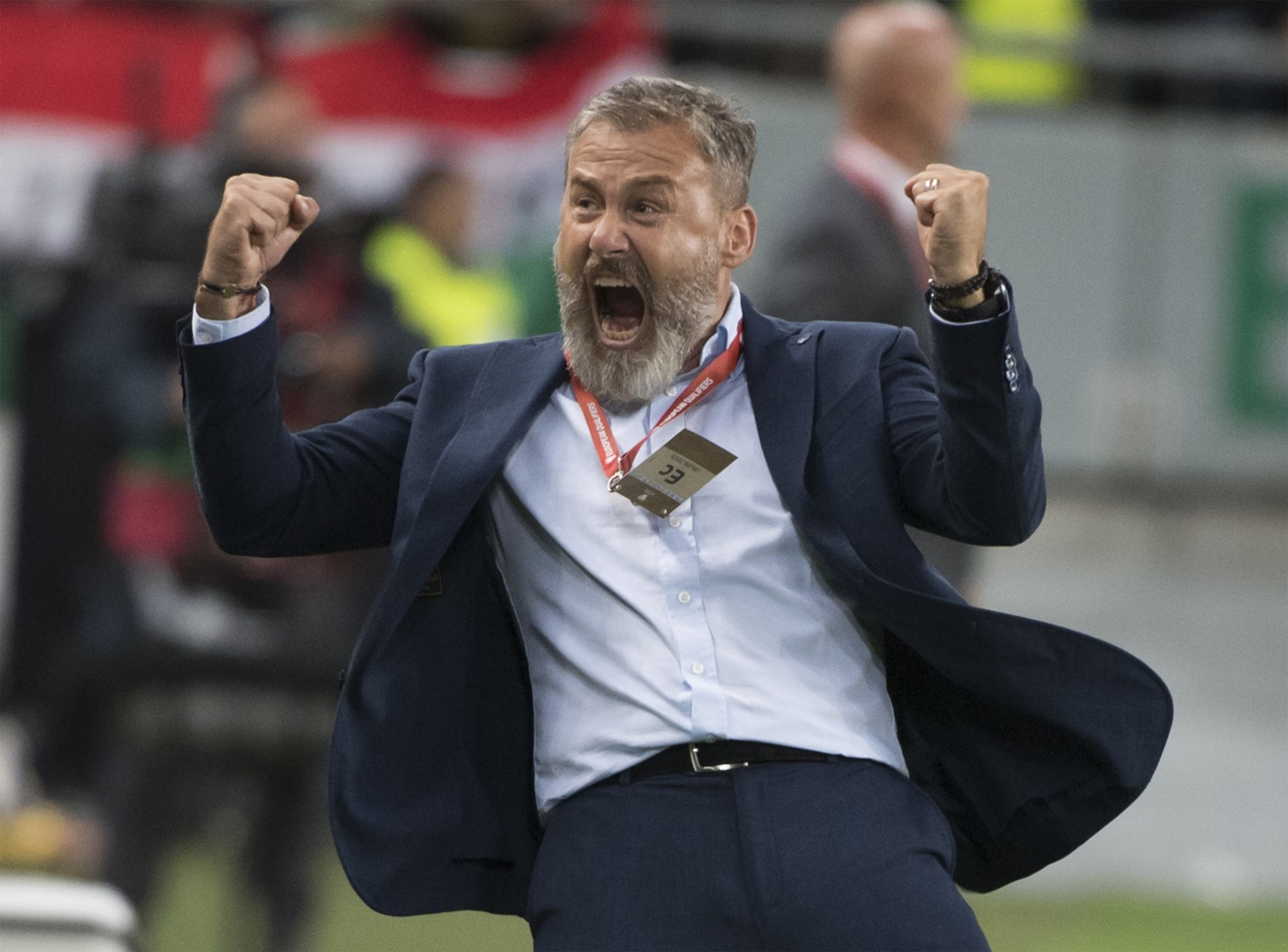 Na snímke radosť trénera