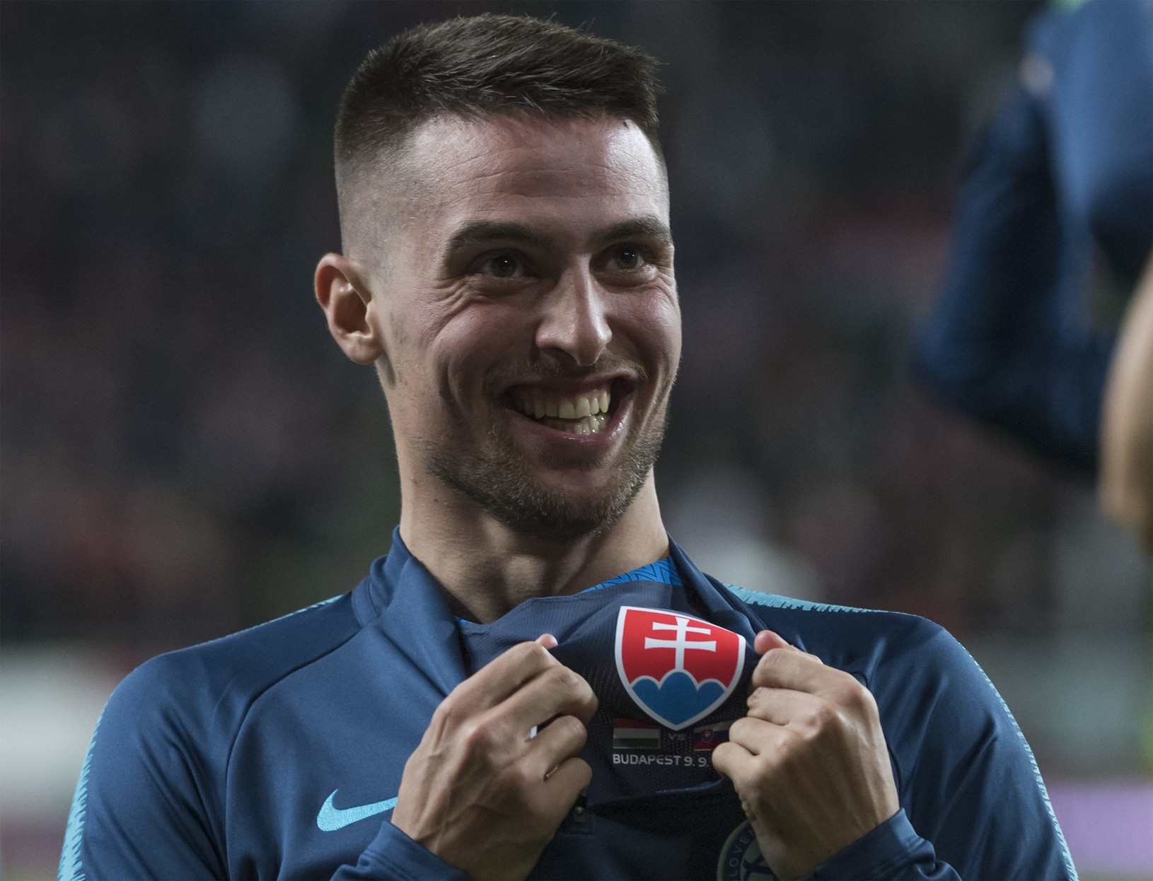Radosť slovenského futbalistu Róberta