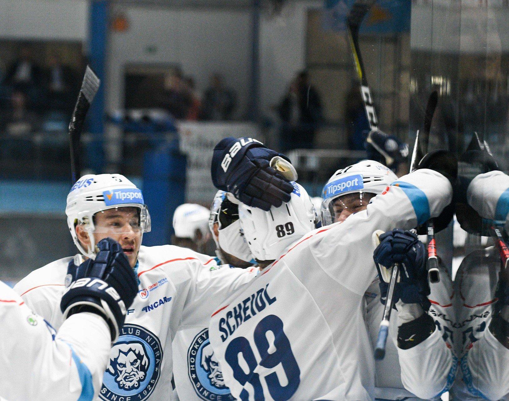 Radosť hokejistov HK Nitra