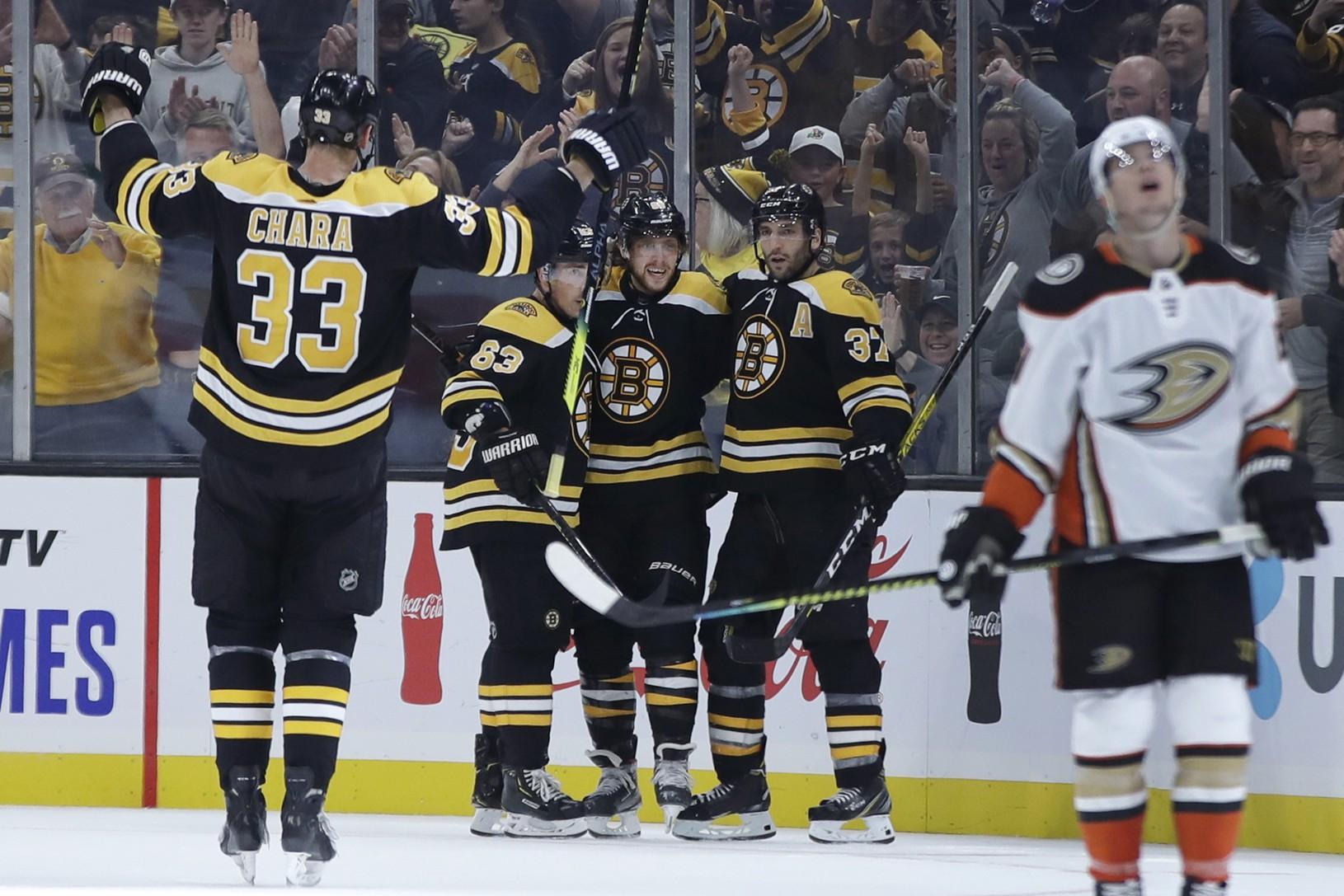 Gólová radosť hráčov Bruins