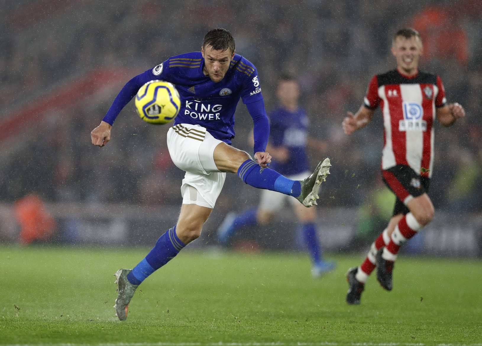 Jamie Vardy strieľa gól