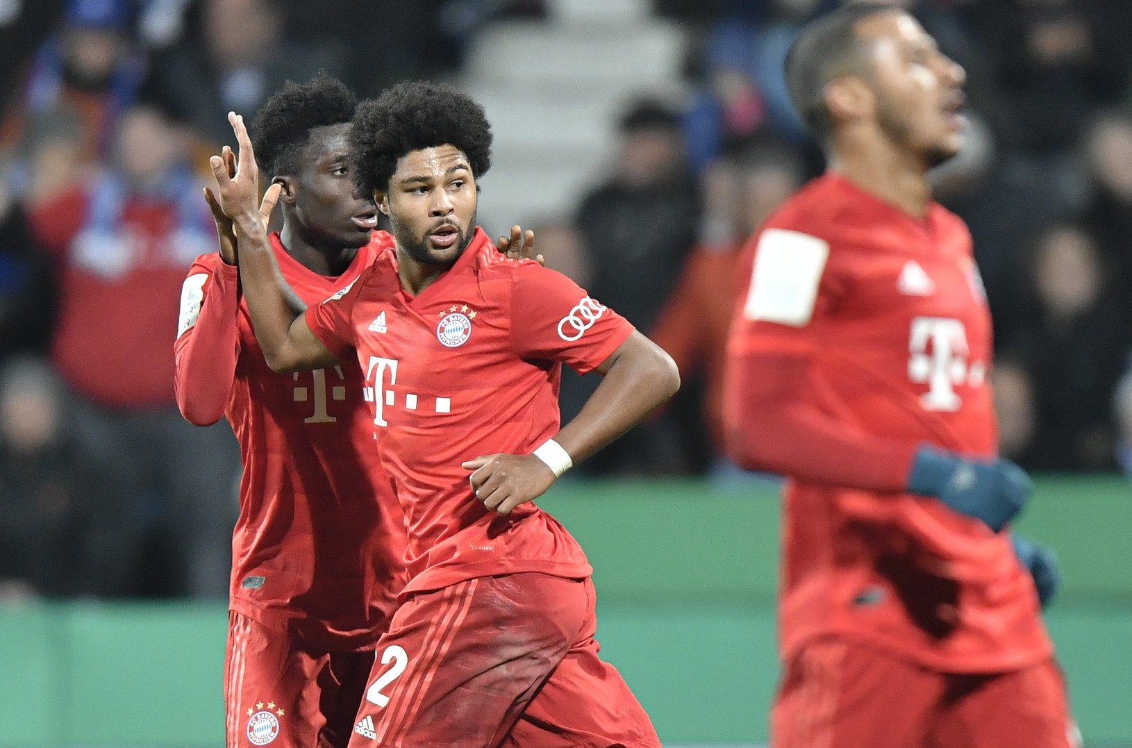 Hráči Bayernu sa radujú