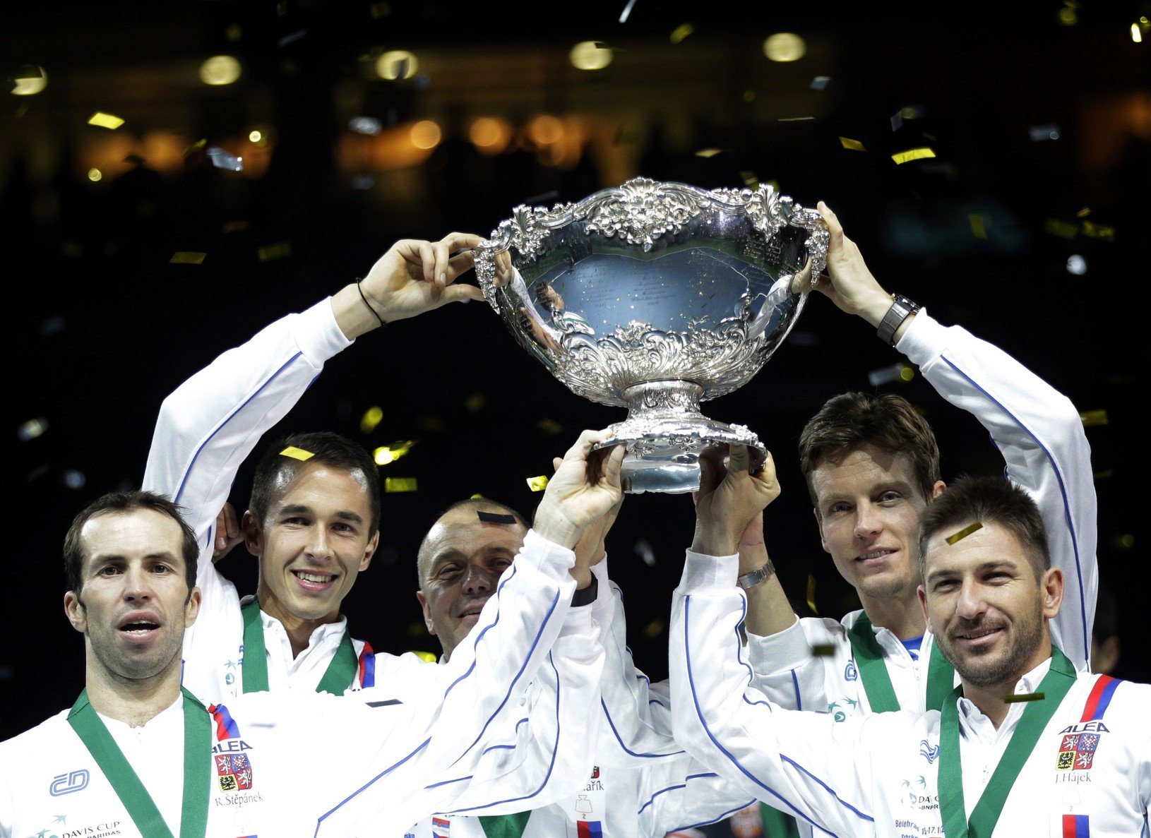 Českí tenisti po triumfe