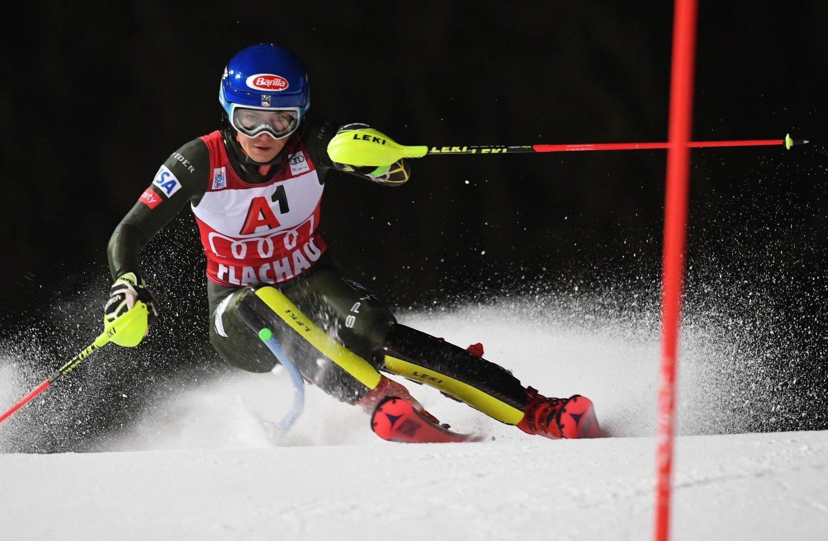 Na snímke americká lyžiarka