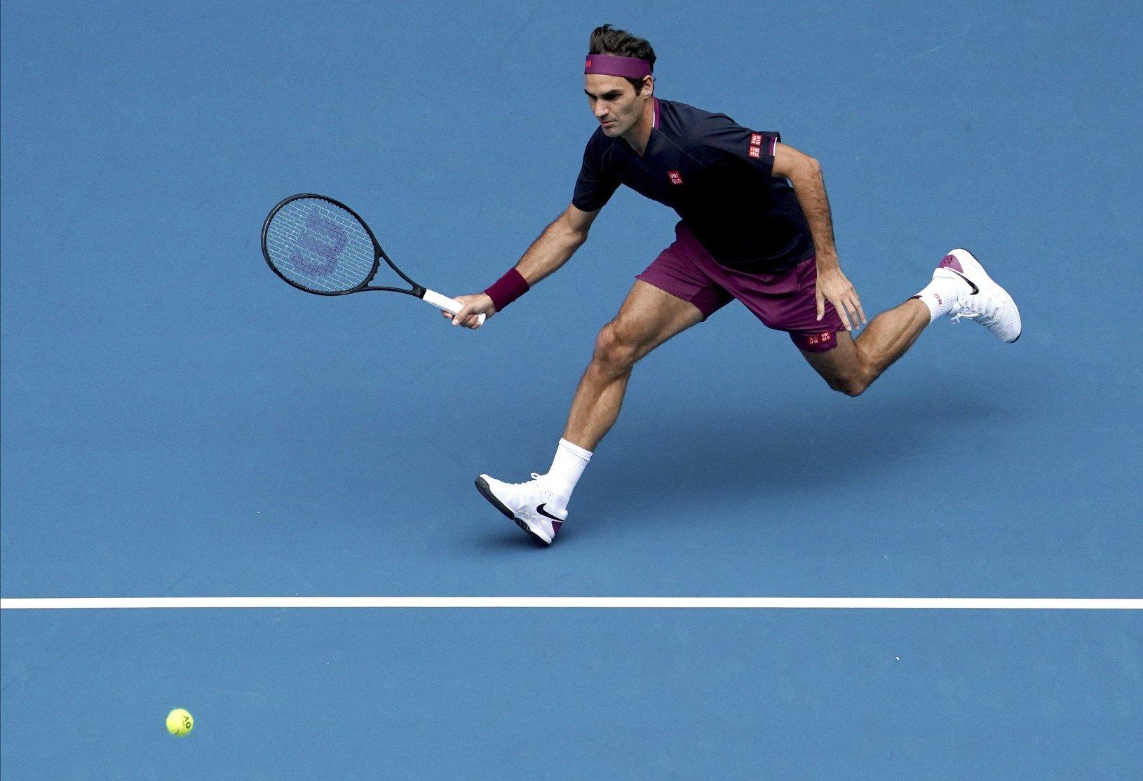 Roger Federer v akcii