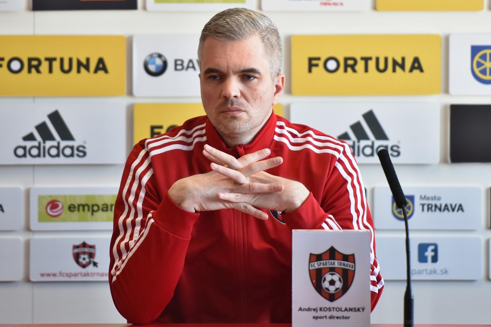 Športový riaditeľ Spartaka Andrej