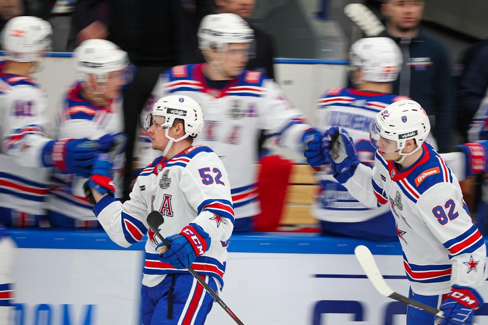 Gólové oslavy hokejistov SKA