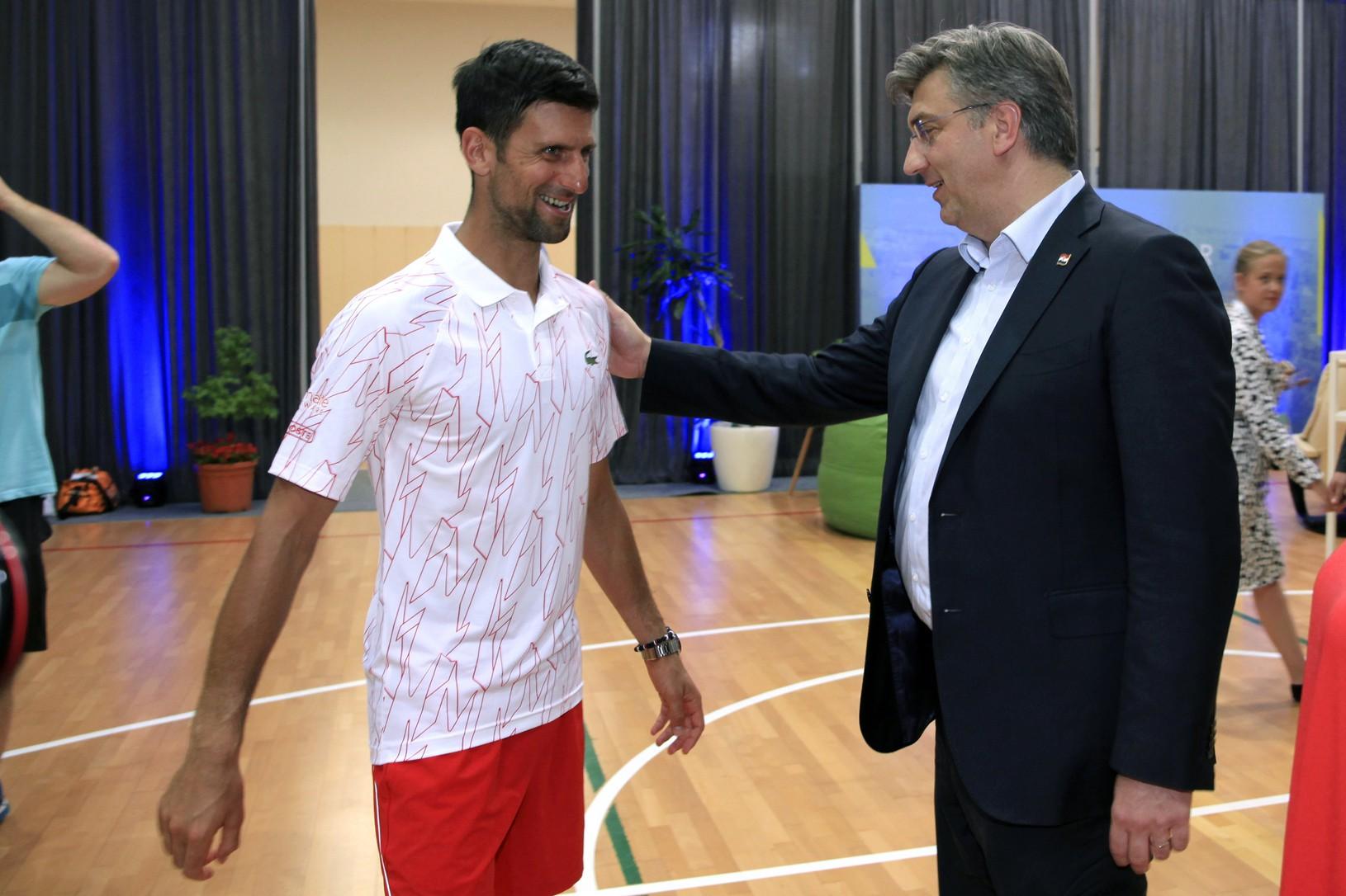 Novak Djokovič a chorvátsky