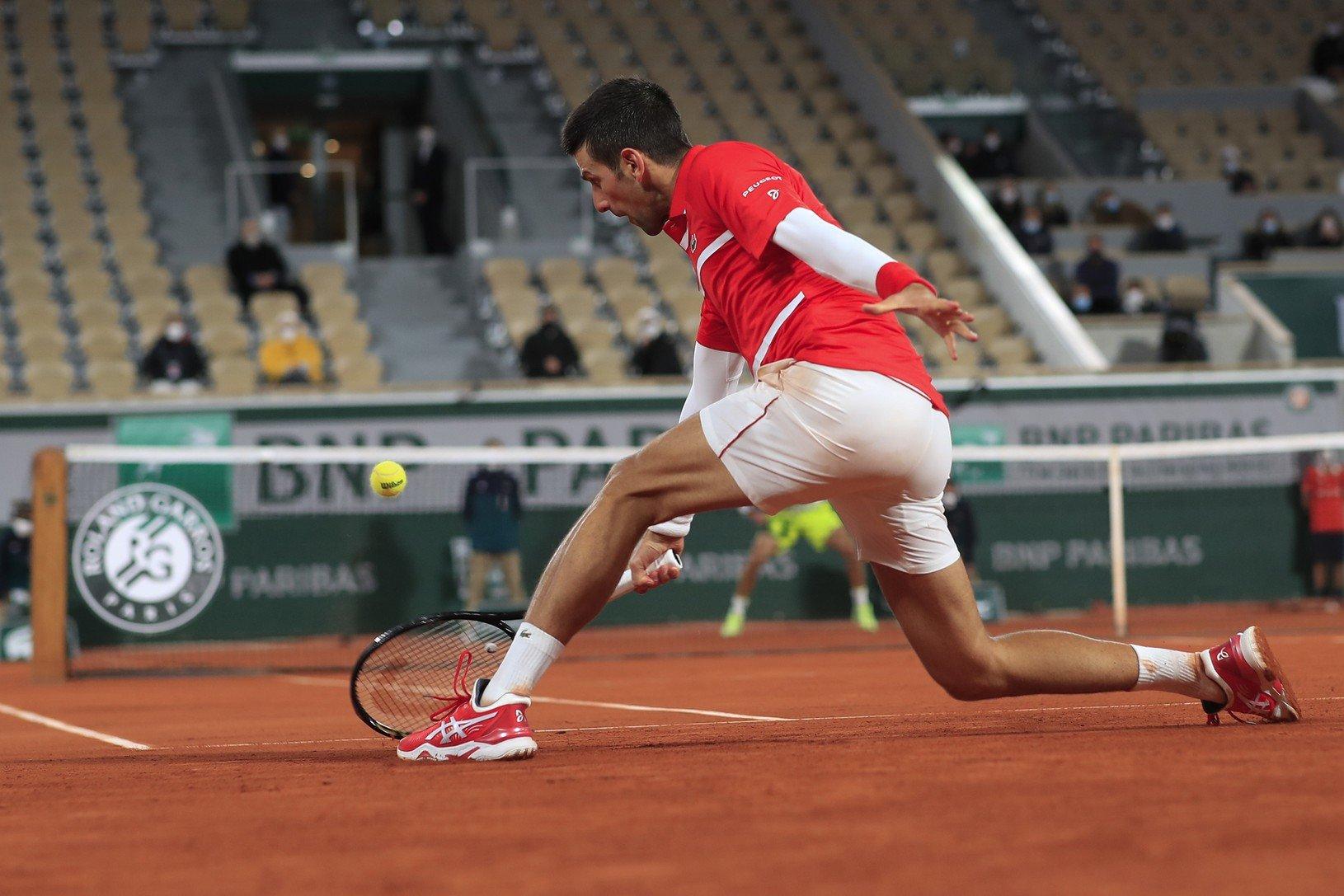 Novak Djokovič počas zápasu