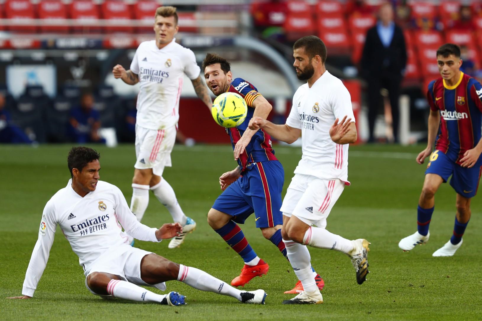 Lionel Messi, Raphael Varane