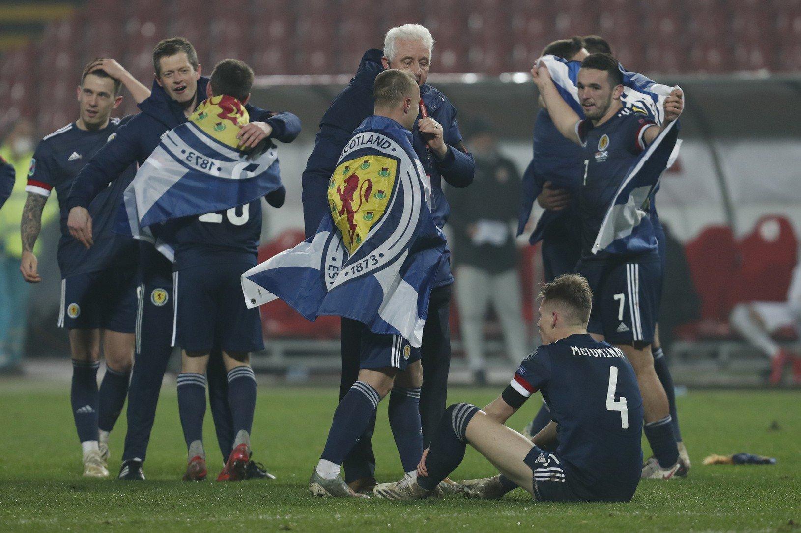 Postupové oslavy futbalistov Škótska
