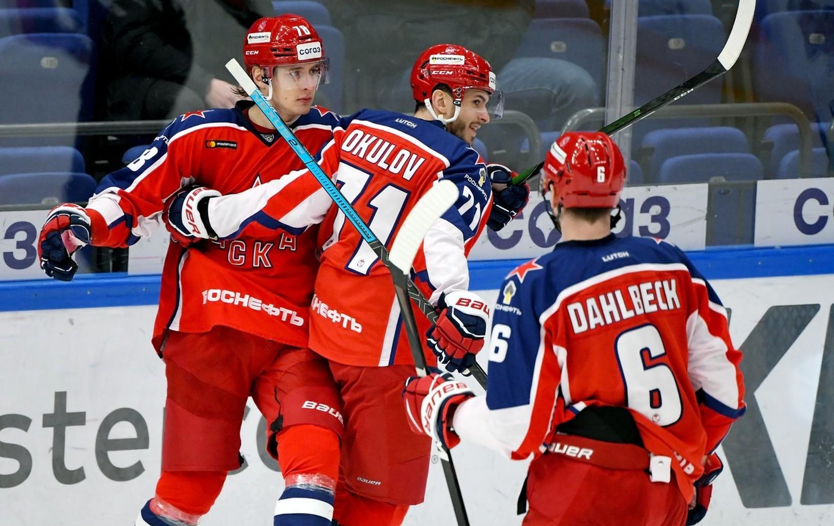Radosť hráčov CSKA Moskva